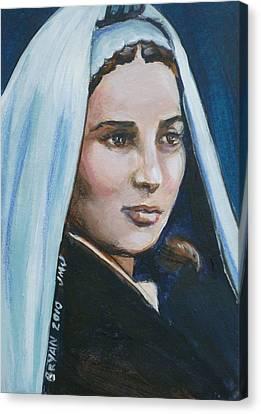 Saint Bernadette Soubirous Canvas Print by Bryan Bustard