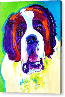 Saint Bernard -  Canvas Print by Alicia VanNoy Call