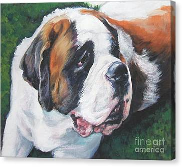 Saint Bernard Canvas Print by Lee Ann Shepard