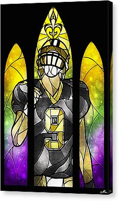 Stain Glass Canvas Print - Saint Brees by Mandie Manzano