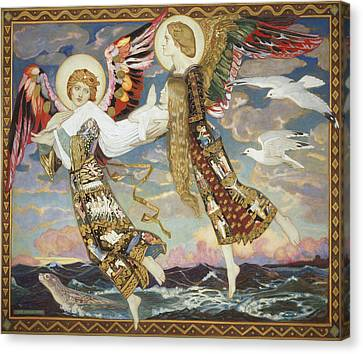 Sea Birds Canvas Print - Saint Bride by John Duncan