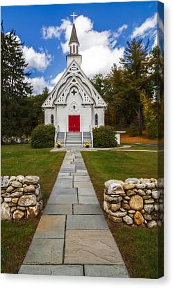 Saint Bridget Catholic Church Canvas Print by Susan Candelario