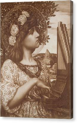 Saint Cecilia Canvas Print by Henry Ryland