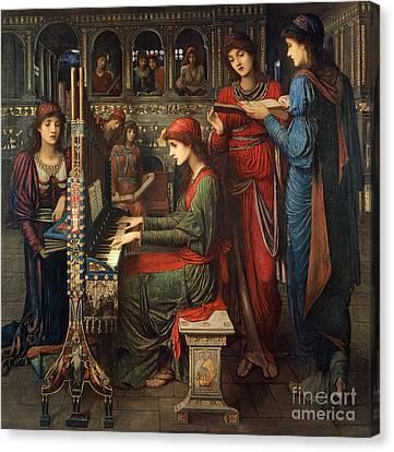 Worship Canvas Print - Saint Cecilia by John Melhuish Strudwick