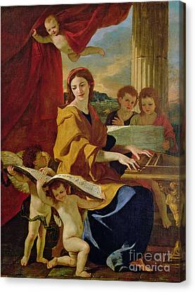 Saint Cecilia Canvas Print by Nicolas Poussin