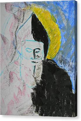 Saint Charbel Canvas Print by Marwan George Khoury