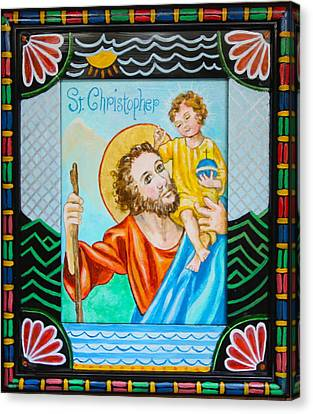 Saint Christopher Canvas Print by Jan Mecklenburg