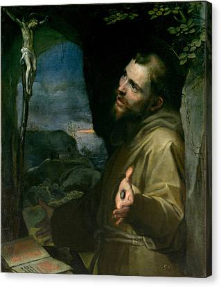 Canvas Print featuring the painting Saint Francis by Federico Barocci
