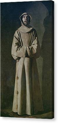Saint Francis Canvas Print by Francisco de Zurbaran