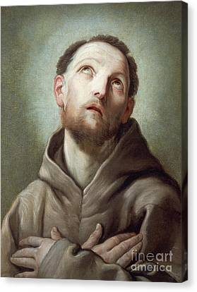 Saint Francis  Canvas Print by Guido Reni