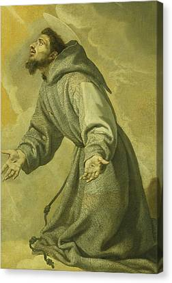 Saint Francis Receiving The Stigmata Canvas Print by Vicente Carducho