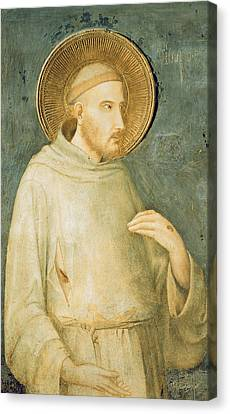 Francis Canvas Print - Saint Francis by Simone Martini