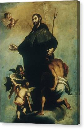 Saint Francis Xavier Canvas Print by Miguel Cabrera