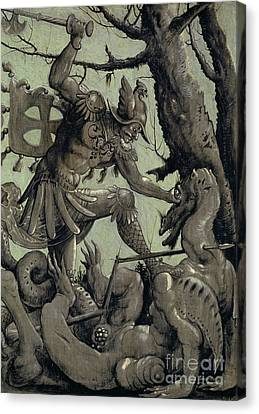 Graf Canvas Print - Saint George Fighting The Dragon by Urs the elder Graf