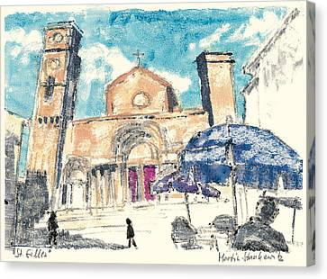 Canvas Print featuring the painting Saint Gilles Abbey by Martin Stankewitz