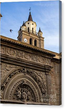 Canvas Print featuring the photograph Saint Hieronymus Facade Of Calahorra Cathedral by RicardMN Photography