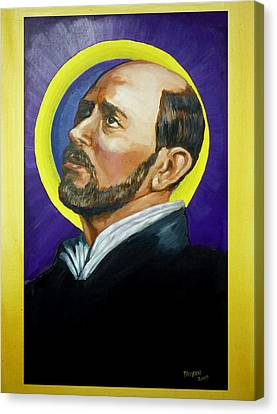 Canvas Print featuring the painting Saint Ignatius Loyola by Bryan Bustard