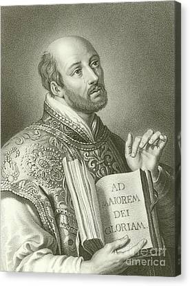 Saint Ignatius Of Loyola Canvas Print by English School