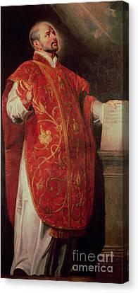 Ignatius Canvas Print - Saint Ignatius Of Loyola by Peter Paul Rubens