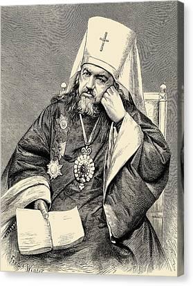 Saint Innocent, Metropolitan Of St Canvas Print by Vintage Design Pics