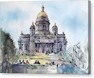 Saint Isaac's Cathedral - Saint Petersburg - Russia  Canvas Print by Natalia Eremeyeva Duarte