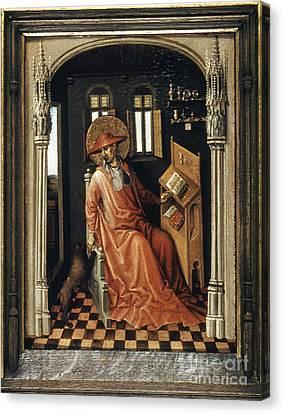 Saint Jerome (340-420) Canvas Print by Granger