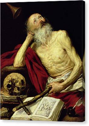 Saint Jerome Canvas Print by Antonio Pereda y Salgado