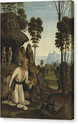 Saint Jerome In The Wilderness Canvas Print
