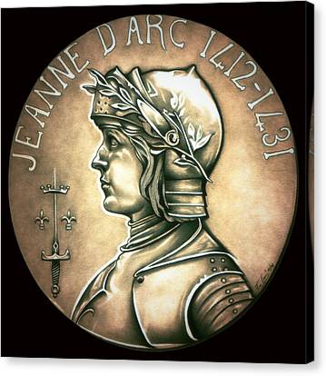 Saint Joan Of Arc Canvas Print by Fred Larucci