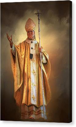 Canvas Print featuring the photograph Saint John Paul The Second by Donna Kennedy