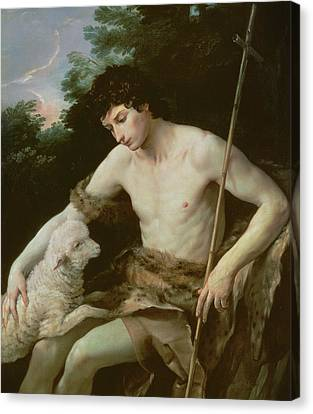Saint John The Baptist In The Wilderness Canvas Print by Guido Reni