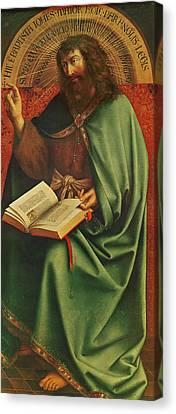 Saint John The Baptist   Canvas Print by Jan Van Eyck