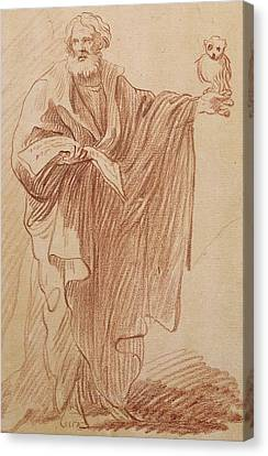 St John The Evangelist Canvas Print - Saint John The Evangelist by Edme Bouchardon