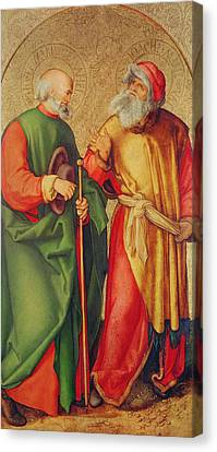 Saint Joseph And Saint Joachim Canvas Print by Albrecht Durer or Duerer