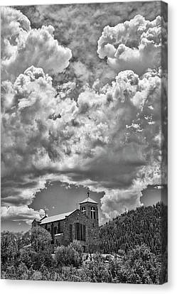 Chape Canvas Print - Saint Joseph Apache Mission, Mescalero, New Mexico, June 10, 201 by Mark Goebel