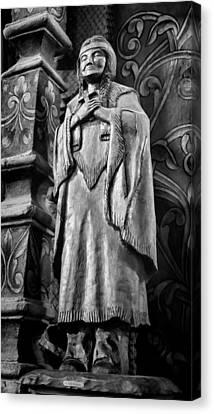 Saint Kateri Tekakwitha - Bw Canvas Print by Stephen Stookey