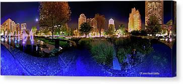 Saint Louis City Garden Panorama Canvas Print by David Coblitz