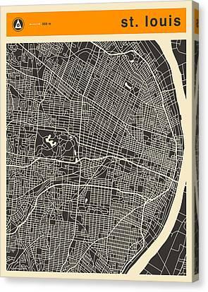 Saint Louis Canvas Print - St Louis Map by Jazzberry Blue