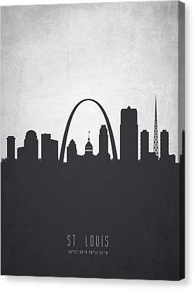 High Rise Canvas Print - Saint Louis Missouri Cityscape 19 by Aged Pixel