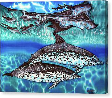 Saint Lucia Wild Dolphins Canvas Print by Daniel Jean-Baptiste