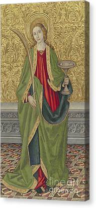 Saint Lucy Canvas Print by Jaume the younger Vergos