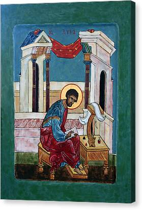 Saint Luke Canvas Print by Phillip Schwartz