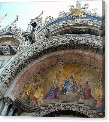 Saint Marks San Marco Canvas Print by Mindy Newman