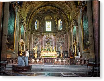 Saint Mary Of The Angels Rome Canvas Print by Joan Carroll