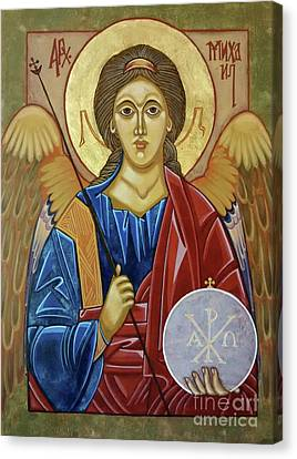 Saint Michael Archangel Canvas Print by Danielle Tayabas