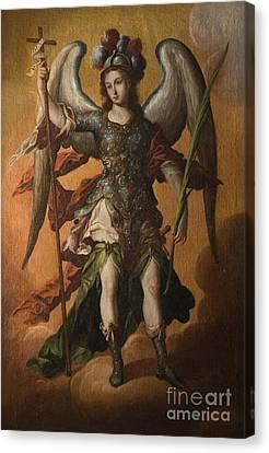 Saint Michael The Archangel Canvas Print by Celestial Images