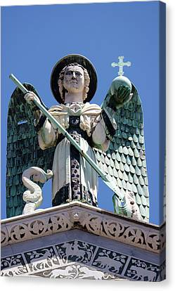 Saint Michael The Archangel Lucca Tuscany Canvas Print by Mathew Lodge