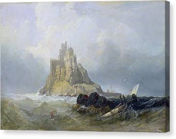 Saint Michael's Mount In Cornwall  Canvas Print by William Clarkson Stanfield