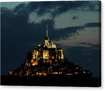 Canvas Print featuring the photograph Saint Michel Mount After The Sunset, France by Yoel Koskas
