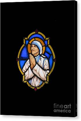 Saint Mother Theresa Of Calcutta Canvas Print